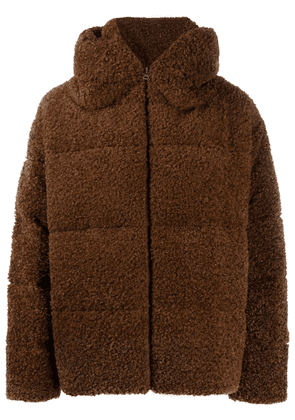 Bacon sherpa down puffer jacket - Brown