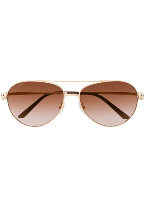 Cartier Eyewear Panthère de Cartier aviator-frame sunglasses - GOLD