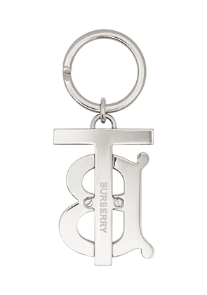 Burberry monogram motif palladium-plated key ring - Orange