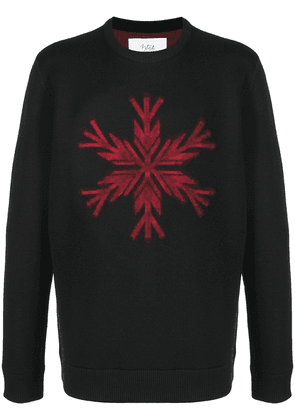 Aztech Mountain Snowflake knitted jumper - Black