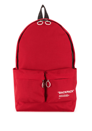 Off-White slogan backpack - Red