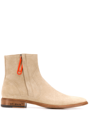 Off-White clip zipped boots - Neutrals
