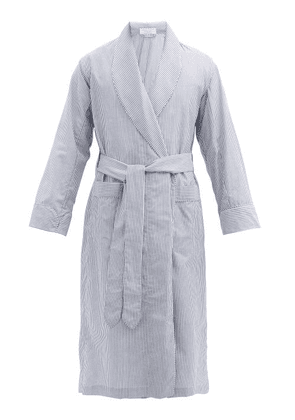 Emma Willis - Zepherlino Striped Cotton-blend Robe - Mens - Navy