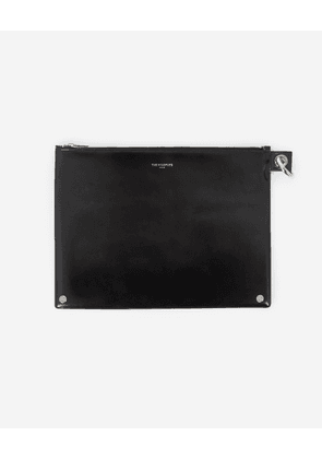 The Kooples - Large black leather zipped pouch - WOMEN