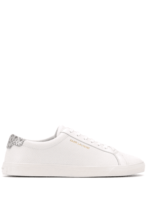 Saint Laurent Andy glitter-detail sneakers - White