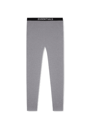 Fear of God Essentials - Tapered Thermal Waffle-Knit Cotton Sweatpants - Men - Gray
