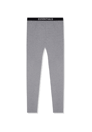Fear of God Essentials - Tapered Mélange Cotton-Blend Jersey Sweatpants - Men - Gray