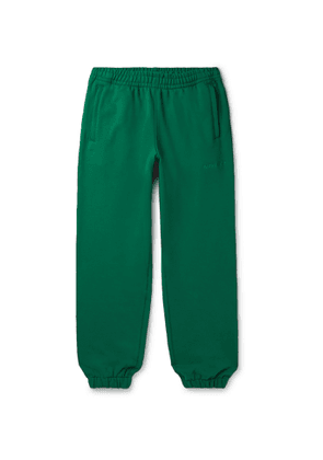 adidas Consortium - Pharrell Williams Basics Slim-Fit Logo-Embroidered Loopback Cotton-Jersey Sweatpants - Men - Green