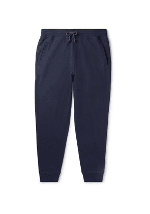 Brunello Cucinelli - Tapered Cotton-Blend Jersey Sweatpants - Men - Blue