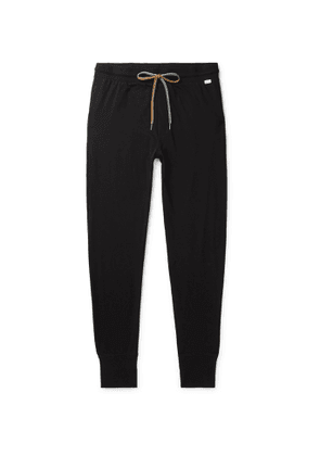 PAUL SMITH - Tapered Cotton-Jersey Sweatpants - Men - Black
