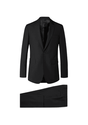 BURBERRY - Slim-Fit Wool and Mohair-Blend Suit - Men - Black