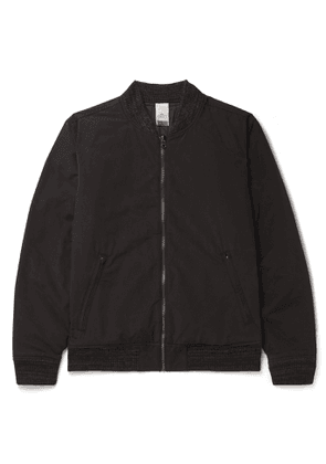 Faherty - Reversible Twill and Quilted Cotton-Blend Bomber Jacket - Men - Black