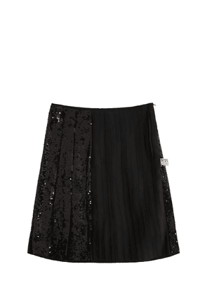Sequins Pleated Skirt