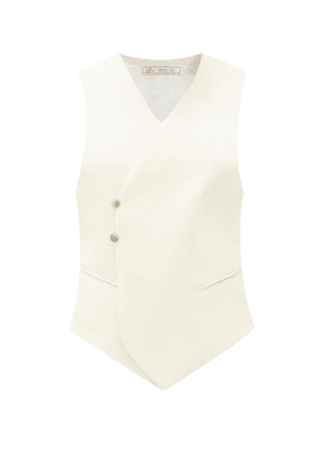 Umit Benan B+ - Double-breasted Wool-blend Waistcoat - Womens - Ivory