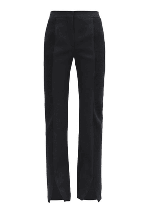 Burberry - Ribbed-panel Flared Wool-barathea Suit Trousers - Womens - Black