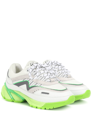 Exclusive to Mytheresa – Leather and mesh sneakers