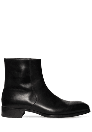 27mm Leather Ankle Boots