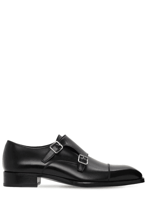 30mm Monk Strap Leather Shoes