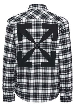 Ow Check Cotton Flannel Shirt
