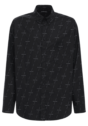 Diagonal License Cotton Poplin Shirt
