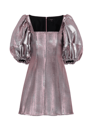 Lady D'arbanville metallic minidress