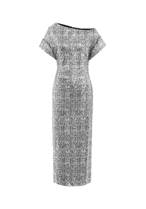 Sequined snake-print maxi dress