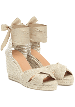 Bluma canvas wedge espadrilles