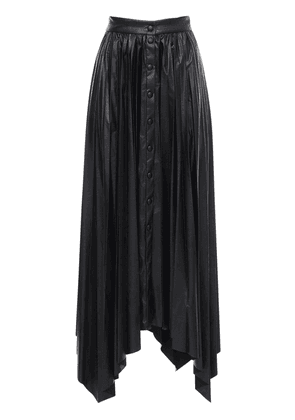 Davies Pleated Faux Leather Skirt