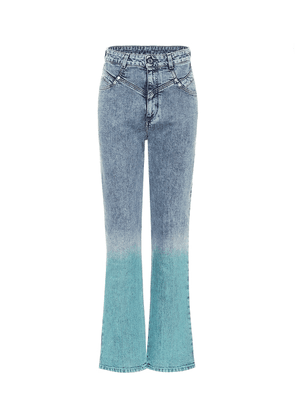 Gradient high-rise straight jeans