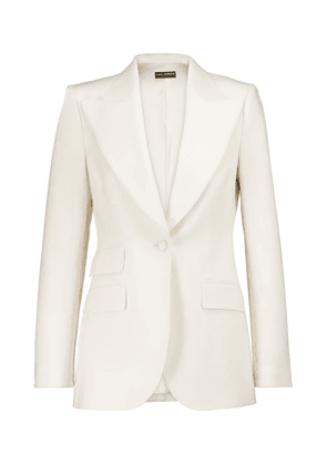 Stretch wool-blend natté blazer