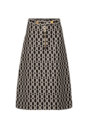 Tweed jacquard midi skirt