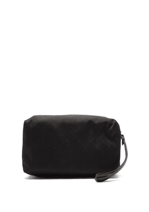 Bottega Veneta - Jacquard Wash Bag - Mens - Black Silver