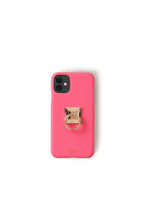Mulberry iPhone 11 Case With Ring - Neon Pink