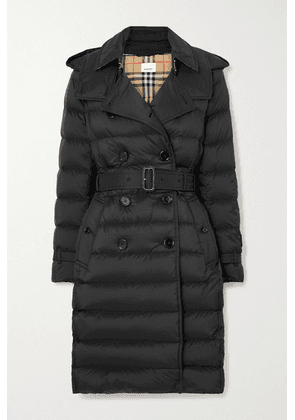 Burberry - + Net Sustain Belted Hooded Quilted Shell Down Coat - Black