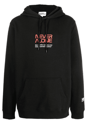 Blood Brother Erith embroidered-logo hoodie - Black