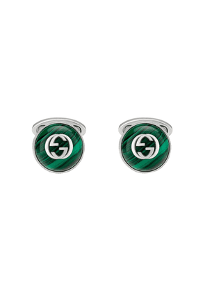 Gucci Interlocking G cufflinks - Green