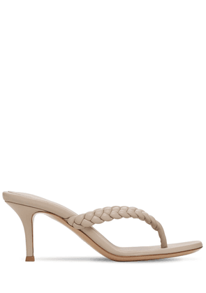 70mm Tropea Braided Leather Thong Sandal