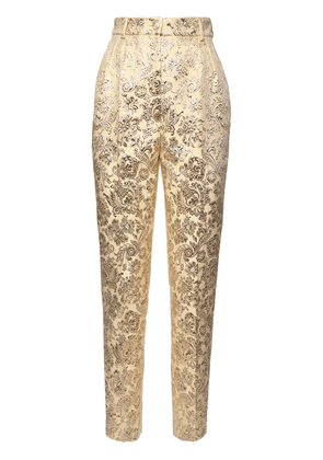 High Waist Lamé Jacquard Pants