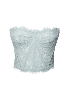 Strapless Sheer Lace Bustier Crop Top