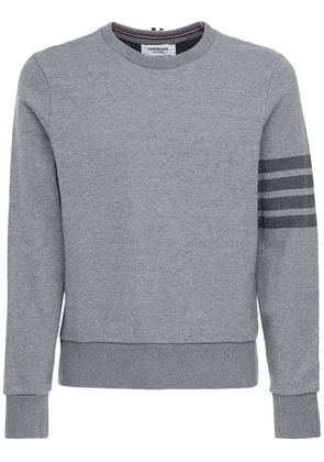 Tonal 4 Bar Cotton Sweatshirt