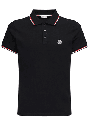 Logo Patch Cotton Piqué Polo Shirt