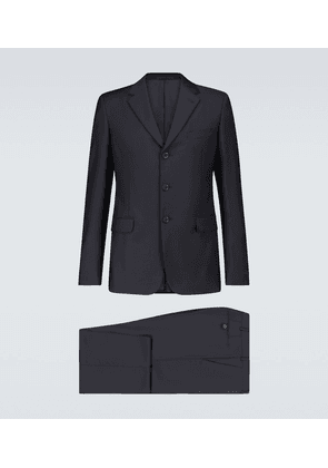 Formal wool and mohair-blend suit