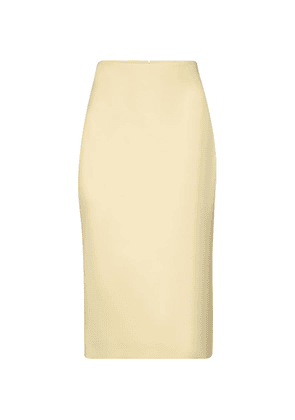 Wool and silk pencil skirt