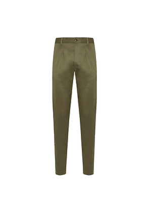 Green Cotton Pences Trousers