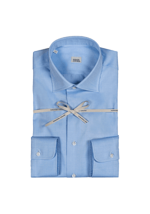 Light Blue Compact Cotton Italian Collar Shirt