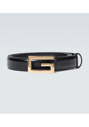 Leather belt with G buckle