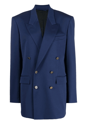 BALENCIAGA double-breasted blazer - Blue