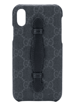 Gucci monogram iPhone X case - Black