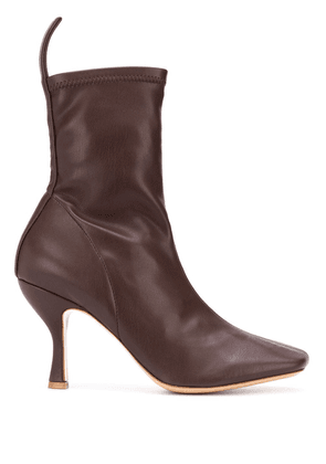 Gia Couture Soraya square-toe ankle boots - Brown