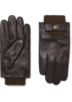 DENTS - Buxton Touchscreen Leather Gloves - Men - Brown - M